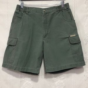 Columbia Light Olive Cargo Shorts 14